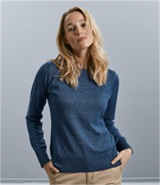 Russell Ladies Cotton Acrylic Crew Neck Sweater