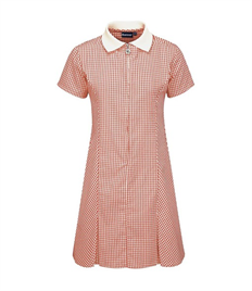 BLUEMAX AVON ZIP-FRONTED CORDED GINGHAM DRESS