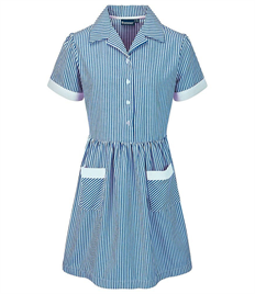 BLUEMAX KINSALE BUTTON FRONT CORDED STRIPE DRESS