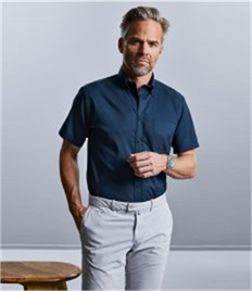 Russell Collection Short Sleeve Classic Twill Shirt