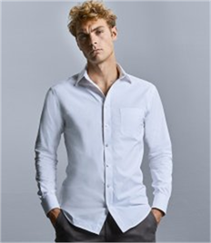 Russell Collection Long Sleeve Tailored Coolmax® Shirt