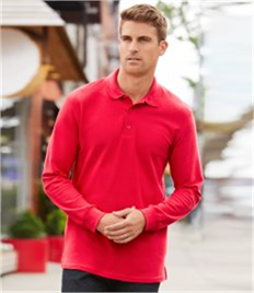 Gildan Long Sleeve Premium Cotton® Double Pique Polo Shirt