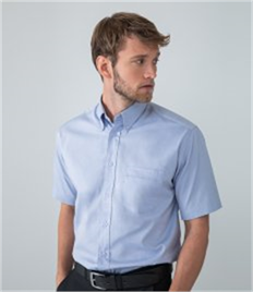 Henbury Short Sleeve Pinpoint Oxford Shirt