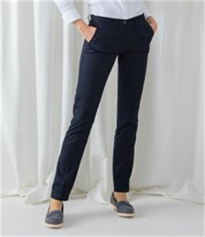 Henbury Ladies 65/35 Flat Fronted Chino Trousers