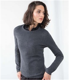 Henbury Ladies Crew Neck Sweater