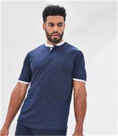 AWDis Cool Stand Collar Sports Polo Shirt
