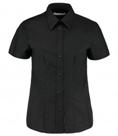 Kustom Kit Ladies Short Sleeve Tailored Workwear Oxford Shirt