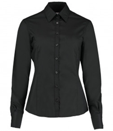 Kustom Kit Ladies Long Sleeve Tailored Business Shirt