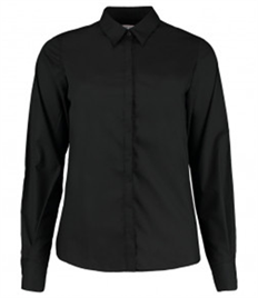 Kustom Kit Ladies Long Sleeve Tailored Contemporary Business Shirt