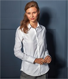Premier Ladies Signature Long Sleeve Oxford Shirt