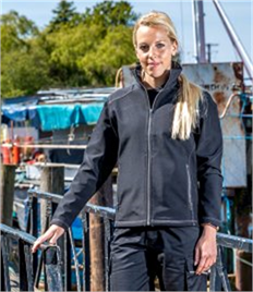Result Work-Guard Ladies Treble Stitch Soft Shell Jacket