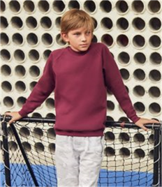 Fruit of the Loom Kids Classic Raglan Sweatshirt