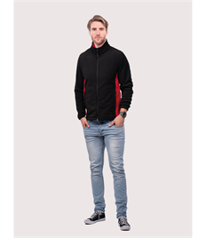 Uneek Two Tone Full Zipped Fleece Jacket