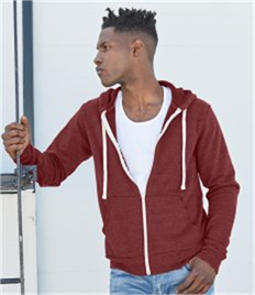 Canvas Unisex Tri-Blend Full Zip Hoodie