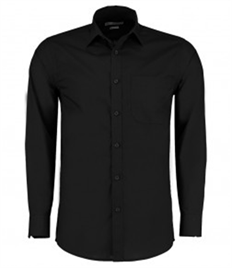 Kustom Kit Long Sleeve Tailored Poplin Shirt