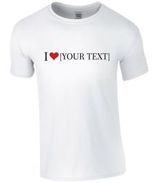 Women's 'I Love ......' T-Shirt - Printed