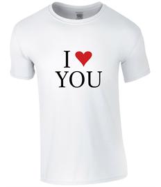 Women's 'I Love You' T-Shirt - Printed