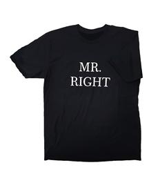 Men's 'Mr Right' T-Shirt - Printed