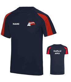 EMB/PR - Stafford Apex Adults Contrast T-Shirt