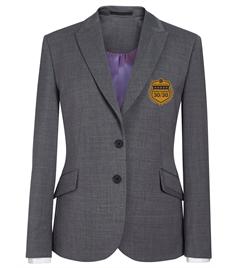 EMB - Ladies 30/30 Light Grey Blazer (Gold Badge)