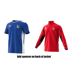 Training Jacket and Shirt - Badge, Initials, shirt number and sponsor (Adult)