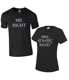 Mr & Mrs T-Shirts - Printed